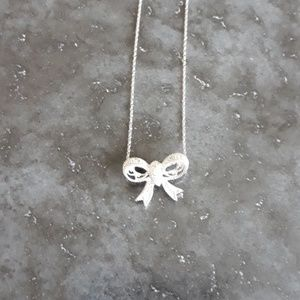 Jewelry - 10kt White Gold and Diamond Necklace.